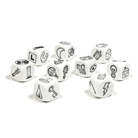 story cubes storytelling scrum